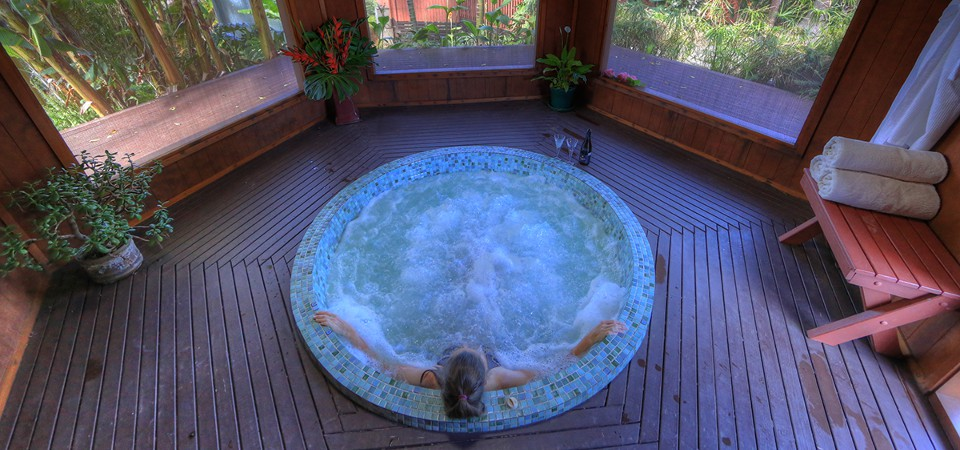 The spa pool at Shearwater Villas, Norfolk Island